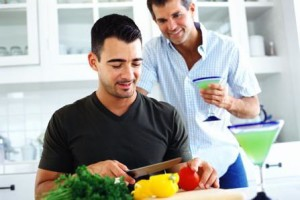 Gay Counseling - Gay couple enjoying food